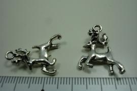 [ 0939 ] Rendier 20 mm. Metaal Zilverkleur, per stuk