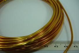 (5040) Aluminium draad 2mm. Donker Oranje. 5 mtr.