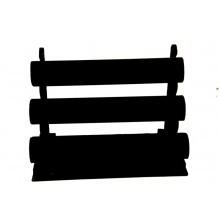 *[9015 ]  Armband 3 rol Fluweel zwart.