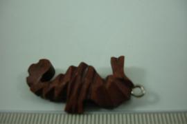 [ 6888 ]  Houten Zeepaardjes, 30 mm.  set van 6 stuks
