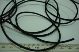 [ 8131 ] Waskoord 2.1 mm. Zwart, per 5 meter