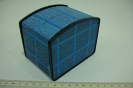 *[ 9374 ] Horloge/Armband doosje 10 x 7½ cm. Blauw, per stuk