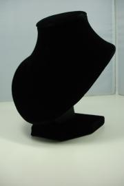*[ 9214 ] Halsje Rond,  Zwart Fluweel 15 cm.