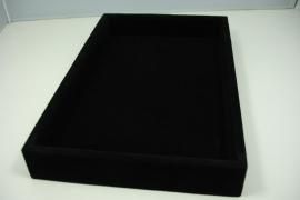 *[ 9198 ] 1 vaks bak klein, 14.5 x 23 cm. Zwart Fluweel,  per stuk