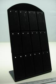 *[ 9223 ] 12 paar lange Oorbel standaard, Zwart