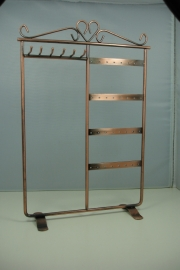 *[ 9237] 6 x Ketting + 16 x Oorbel Display 30 cm., Koperkleur