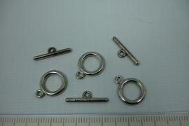 [5420 ] Kapitel slot 12 mm. Zilverkleur, 3 sets