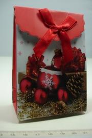 [ 5953 ] Kerst verpakking 7.5 x 10 cm. Kerstballen, per stuk