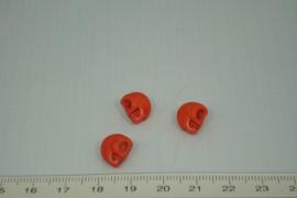 [0321 ] Doodshoofd  kraal  11 x 8 mm. Oranje