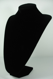 *[9046 ] Hals Punt Zwart Fluweel, Hoog 35 cm.