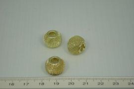 [1033 ] Net kraal  12 x 14 mm, Verguld, per stuk