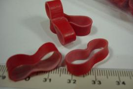 [ 7108 ] Rood fietsband loops per 24 stuks