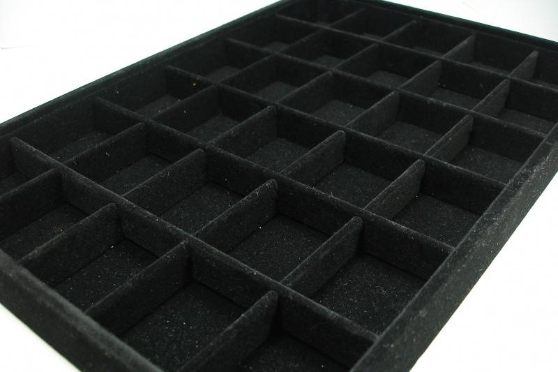 Bak Met Vakjes.9150 30 Vaks Openbak 35 X 25 X 3 3 Cm Zwart Fluweel