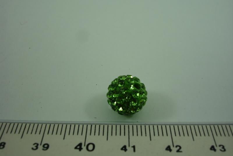 [ 1013 ] Shambala kraal 10 mm. Groen, per stuk