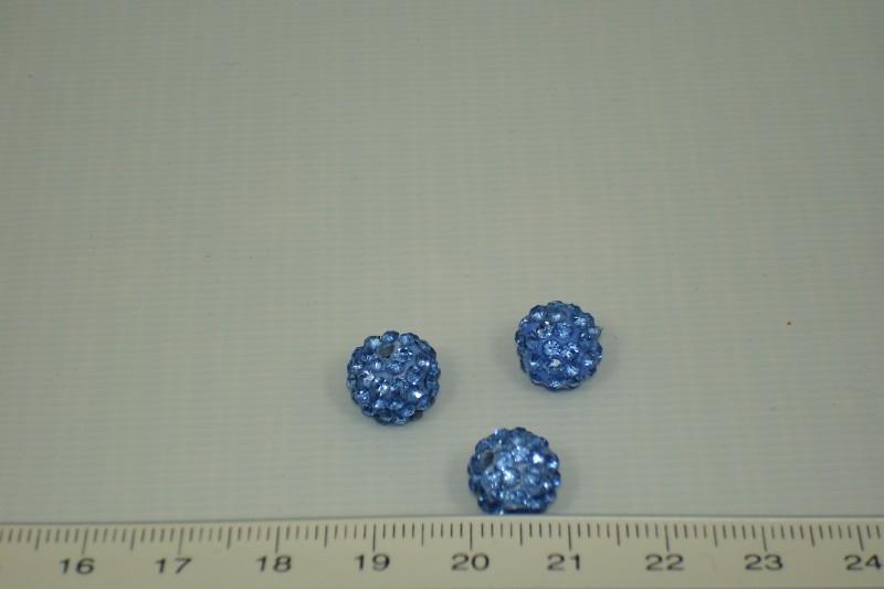 [1001] Shambala kraal 10 mm, Licht blauw