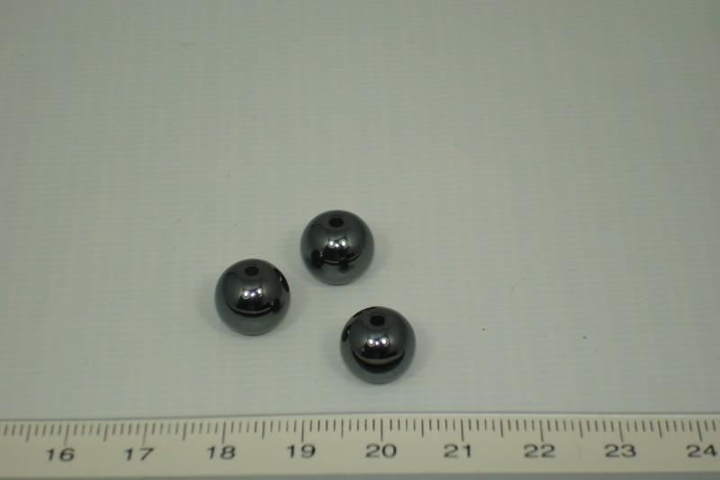 [1023 ] Hematiet kraal rond 10 mm
