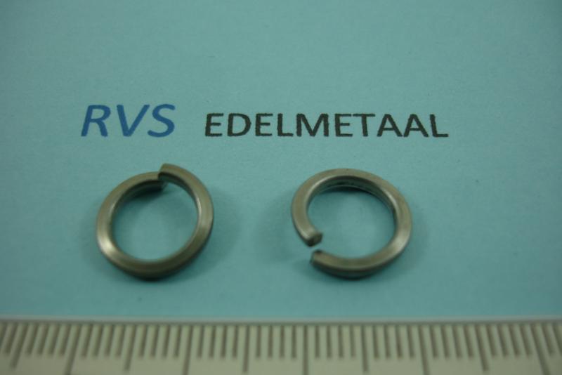 [ 8482 ]  RVS mat, Open Ring plat, 12 mm. x 1.8 mm.  per 15 stuks