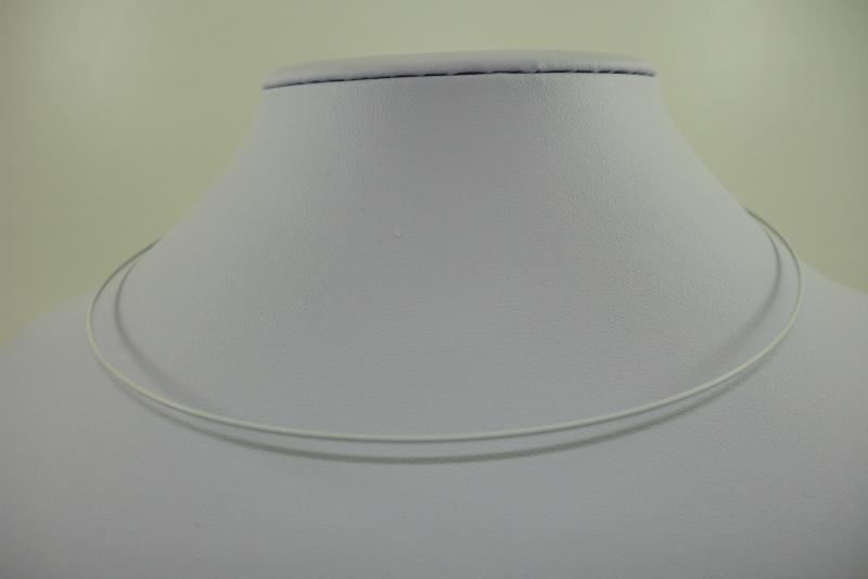 [ 1164 ] Spang 43 cm. met draaislotje, Wit, per stuk
