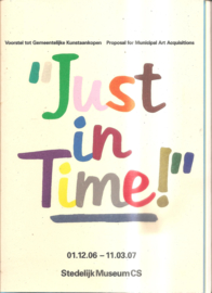 catalogus Stedelijk Museum 885: Just in Time