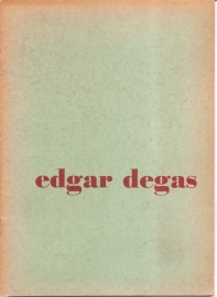 Catalogus Stedelijk Museum 087: Edgar Degas.