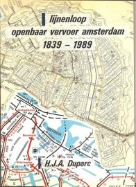 """Duparc, H.J.A.: """"Lijnenloop Openbaar Vervoer Amsterdam"""" (kan nog niet besteld worden)"""
