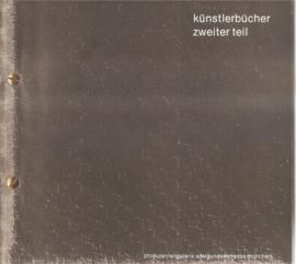 Kretschmer, Hubert: Künstlerbücher, zweiter Teil.