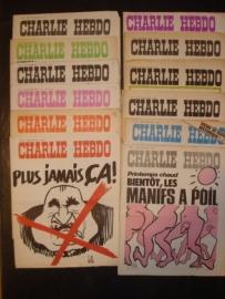 Charlie Hebdo (verschillende nummers uit jaren '70). prijs per stuk