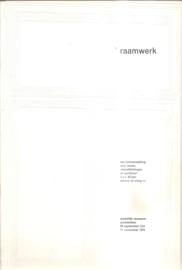 Catalogus Stedelijk Museum zonder nummer: Raamwerk