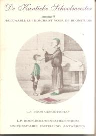 boon, L.P. (over -): De Kantieke Schoolmeester nummer 9