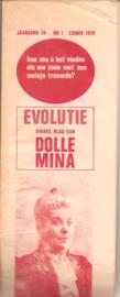 Evolutie dwars blad van DOLLE MINA nr. 1 (1970)