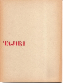 Catalogus Stedelijk Museum 232: Tajiri.