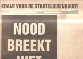 Krant voor de Staatsliedenbuurt: Nood breekt wet