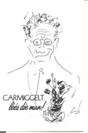 Sticker zelfportret Carmiggelt (gereserveerd)