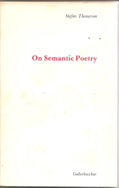 Themerson, Stefan: On Semantic Poetry