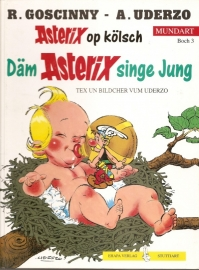"Asterix: ""Dam Asterix singe Jung""."