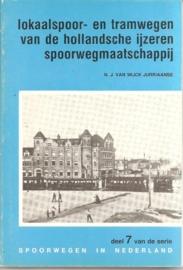 """Wijck Jurriaanse, N.J. van: """"lokaalspoor- en tramwegen van de hollandsche ijzeren spoorwegmaatschappij""""."""