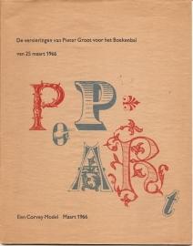 """Eikeren, Joh. H. van: """"De versieringen van Pieter Groot voor het Boekenbal van 25 maart 1966""""."""