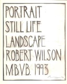 Wilson,  Robert: Still Life Landscape