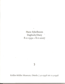 Eykelboom, Hans: dagboek 8 -11-1992 . 8-11-207