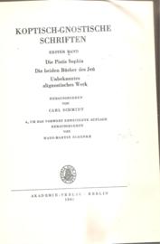 Koptish-Gnostische Schriften; erster Band