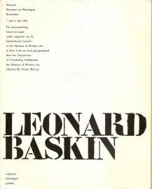 "Baskin, Leonard: ""Sculptuur, tekeningen, grafiek""."