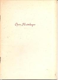 Catalogus Stedelijk museum zonder nummer: Chris Huidekoper