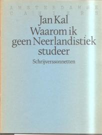 Kal, Jan: Waarom ik geen neerlandistiek studeer