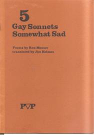 Mooser, Ron: 5 Gay Sonnets Somewhat Sad (gesigneerd)