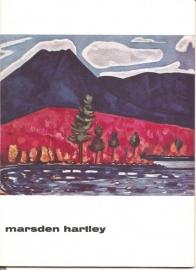 Catalogus Stedelijk Museum 260: Marsden Hartley.