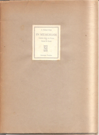 Roland Holst, A.: In memoriam Ch. E. du Perron en Menno ter Braak