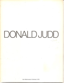 Judd, Donald: catalogus  van Abbemuseum