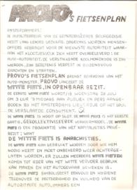 Provokatie no. 5: Provo's Fietsenplan