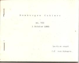 Schagen, J.C. van: Laatste vaart (Domburgse Cahiers VII)