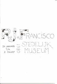 Catalogus Stedelijk Museum 668: R.J. Francisco